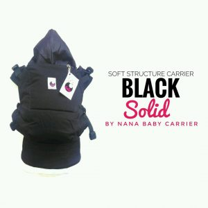 NaNa SSC ERGONOMICS BABY CARRIER – STANDARD SIZE (Black Solid)