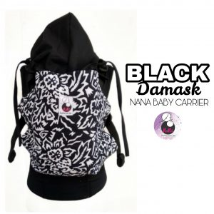 NaNa SSC ERGONOMICS BABY CARRIER – STANDARD SIZE (Black Damask)