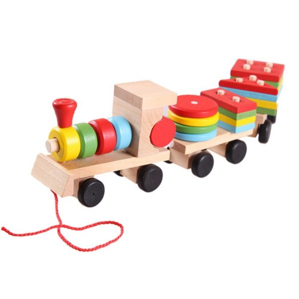 Matching Shapes Wooden Train