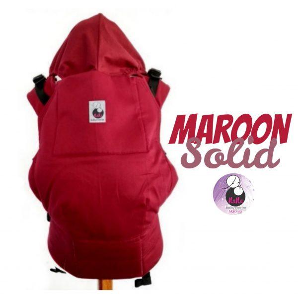 NaNa SSC Ergonomics Baby Carrier – STANDARD SIZE (Maroon Solid)