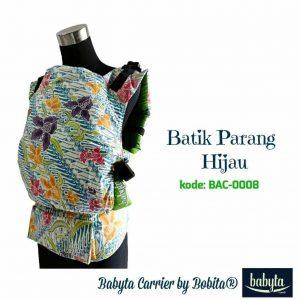 Babyta SSC Ergonomics Baby Carrier by Bobita – PRE-TODDLER SIZE (Batik Parang Hijau)