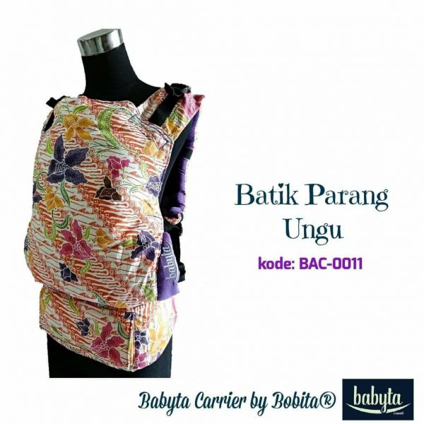 Babyta SSC Ergonomics Baby Carrier by Bobita – PRE-TODDLER SIZE (Batik Parang Ungu)