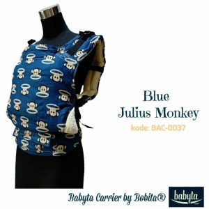 Babyta SSC Ergonomics Baby Carrier by Bobita – TODDLER SIZE (Blue Julius Monkey)