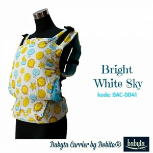 Babyta SSC Ergonomics Baby Carrier by Bobita – TODDLER SIZE (Bright White Sky)