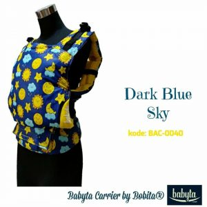Babyta SSC Ergonomics Baby Carrier by Bobita – TODDLER SIZE (Dark Blue Sky)