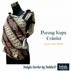 Babyta SSC Ergonomics Baby Carrier by Bobita – PRE-TODDLER SIZE (Parang Kupu Cokelat)