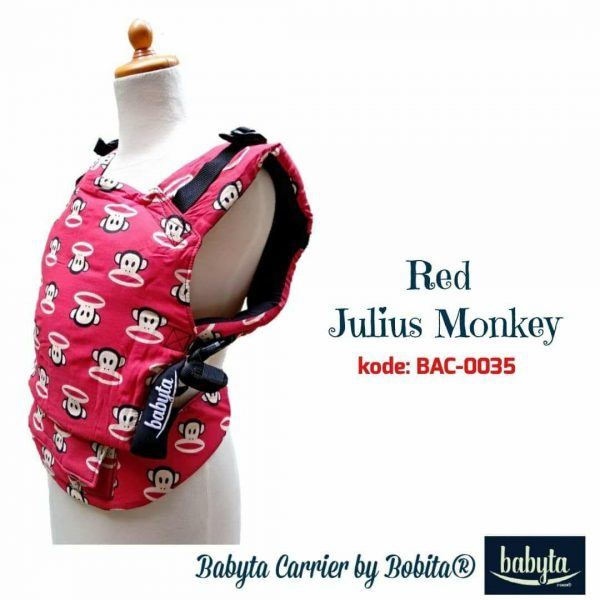 Babyta SSC Ergonomics Baby Carrier by Bobita – TODDLER SIZE (Red Julius Monkey)