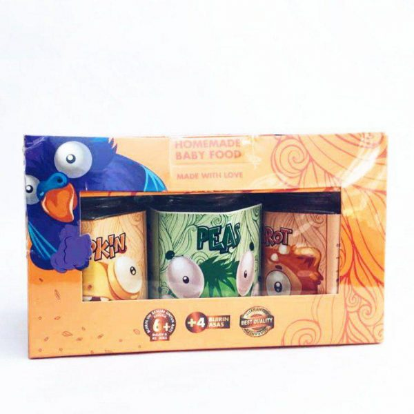 IZLIYAH KITCHEN – TRAVEL SET (Vege) Carrot, Peas, Pumpkin