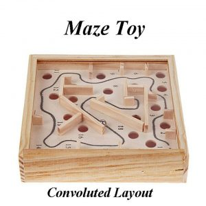 Wooden Maze Magnetic Ball