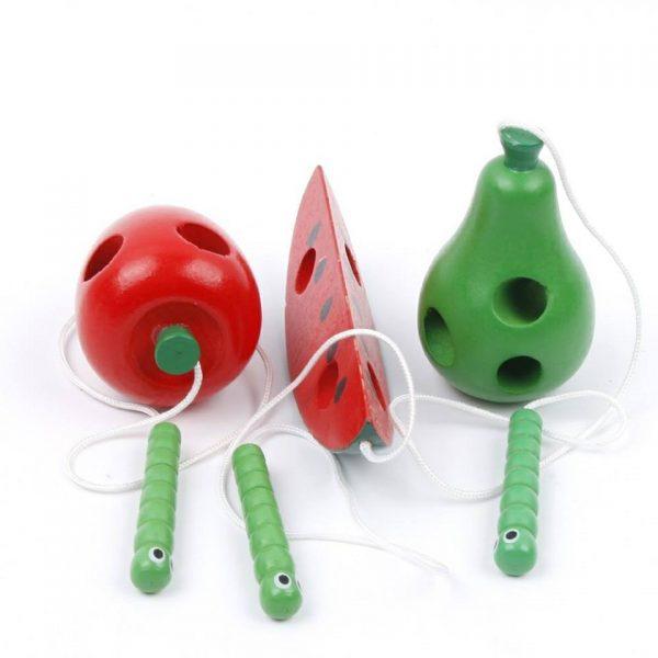 Wooden Fruit Threading Toy