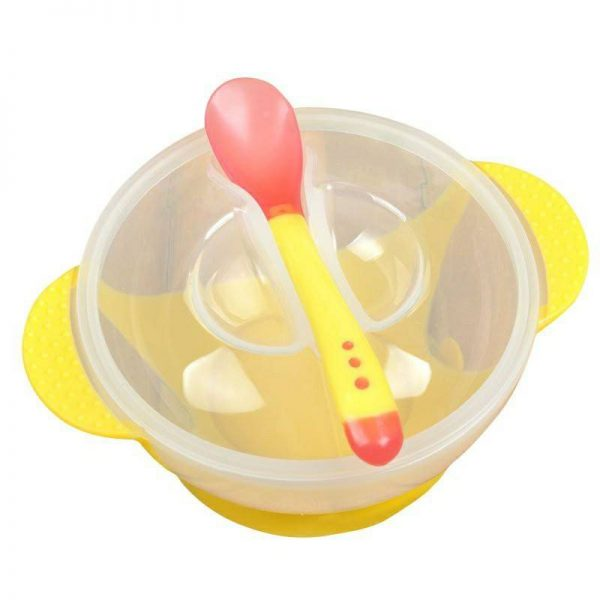 Baby Bowl with Soft Spoon & Lid
