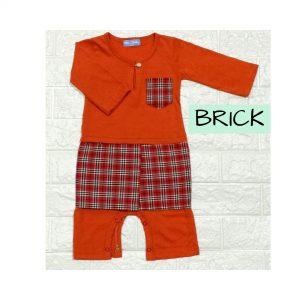 Baju Melayu Romper Bersampin (Brick)