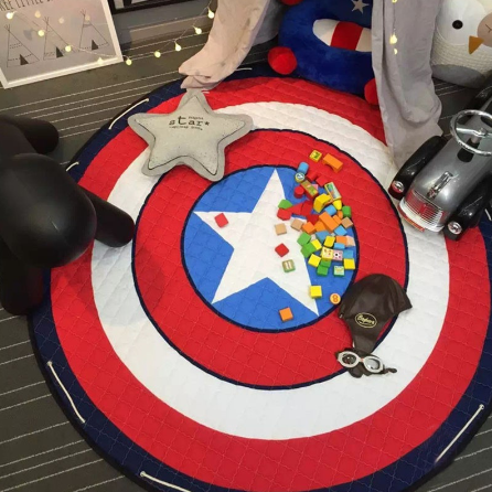 Play Mat Round Carpet (Captain America)