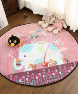 Play Mat Round Carpet (Elephant)