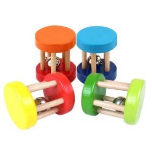 Baby Funny Wooden Educational Rattle Toy