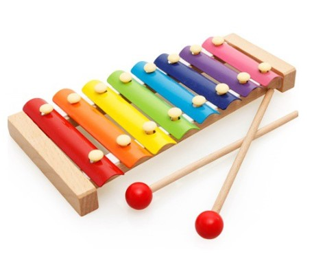 Wooden Colourfull Xylophone with Metal Plate Toy