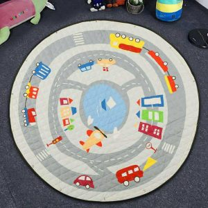 Play Mat Round Carpet (Road Map)
