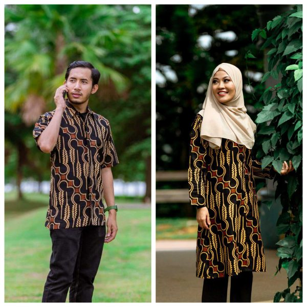 Batik Couple Ibu Ayah (Parang Brown)