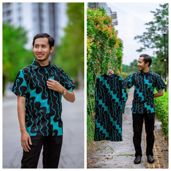 Batik Couple Ibu Ayah (Parang Turquoise)