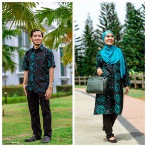 Batik Couple Ibu Ayah (Tie Die Turquoise)