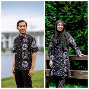Batik Couple Ibu Ayah (Tie Die White)