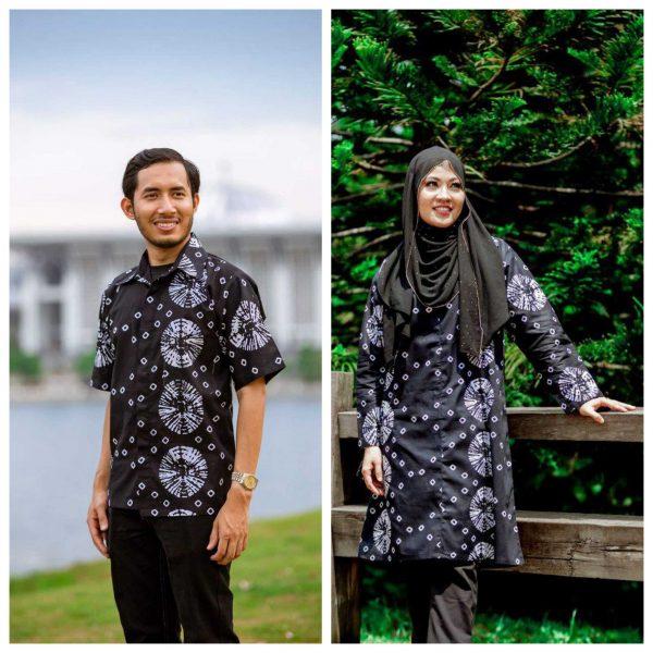 Batik Couple Ibu Ayah (Tie Die White)