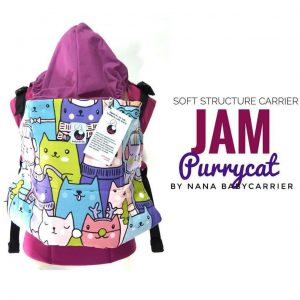 NaNa SSC Ergonomics Baby Carrier – TODDLER SIZE (Jam Purrycat)