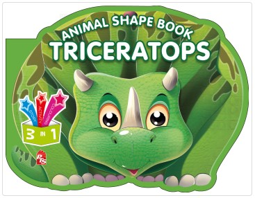Animal Shape Book – Triceratops