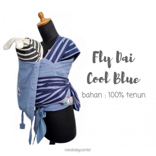 Fly Dai Tenun by Nana Babycarrier (Cool Blue)