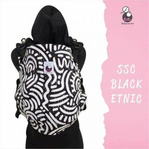 NaNa SSC Ergonomics Baby Carrier – TODDLER SIZE (Black Ethnic)