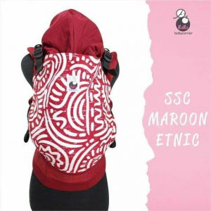 NaNa SSC Ergonomics Baby Carrier – STANDARD SIZE (Maroon Etnic)