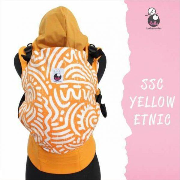 NaNa SSC Ergonomics Baby Carrier – STANDARD SIZE (Yellow Etnic)