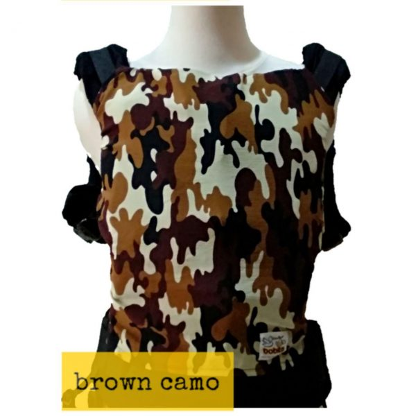 Panel Cover for Bobita Baby Carrier (BROWN CAMO)