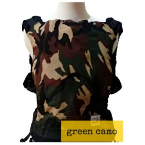Panel Cover for Bobita Baby Carrier (GREEN CAMO)