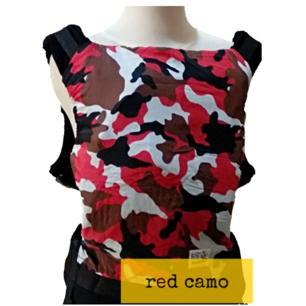 Panel Cover for Bobita Baby Carrier (RED CAMO)