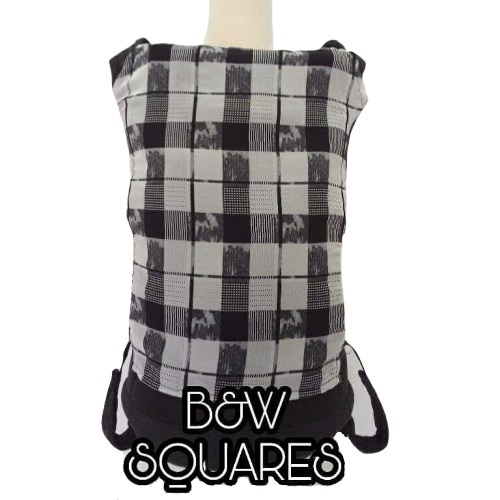 Panel Cover for Bobita Baby Carrier (B&W SQUARES)