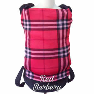 Panel Cover for Bobita Baby Carrier (RED BURBERY)