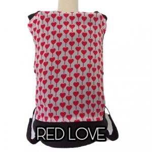 Panel Cover for Bobita Baby Carrier (RED LOVE)