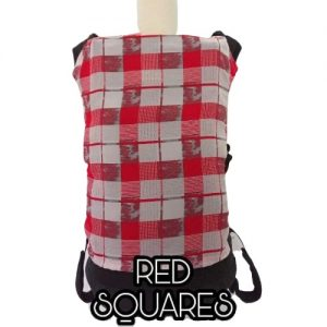 Panel Cover for Bobita Baby Carrier (RED SQUARES)