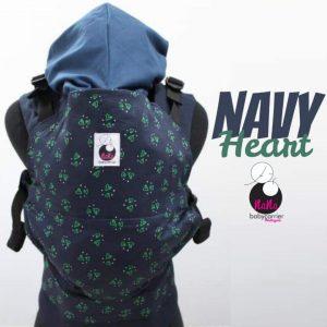 NaNa SSC Ergonomics Baby Carrier – STANDARD SIZE (Navy Heart)