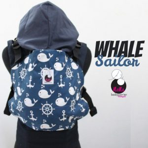 NaNa SSC Ergonomics Baby Carrier – STANDARD SIZE (Whale Sailor)