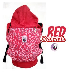NaNa SSC Ergonomics Baby Carrier – STANDARD SIZE (Red Damask)