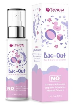 Tasneem Naturel Toys & Surface Spray Sanitiser : BAC OUT