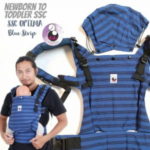 NaNa Optima SSC Ergonomics Baby Carrier – (Blue Strip)