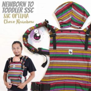 NaNa Optima SSC Ergonomics Baby Carrier – (Choco Rainbow)