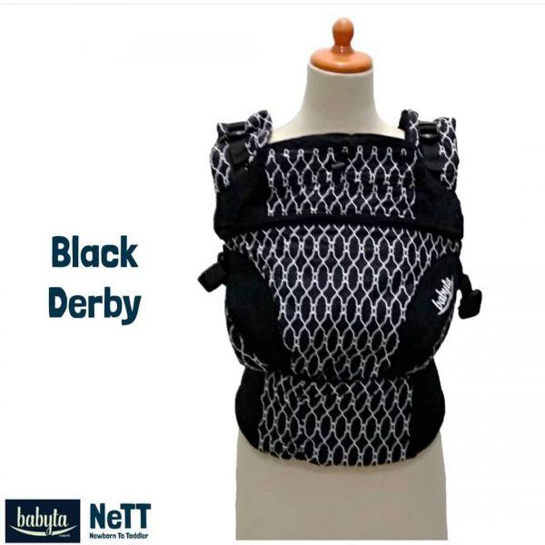 Babyta NeTT Adjustable SSC Ergonomics Baby Carrier by Bobita (BLACK DERBY)