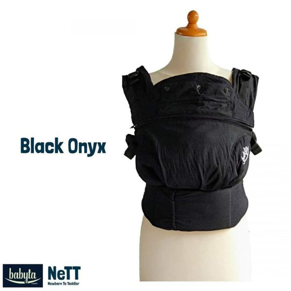 Babyta NeTT Adjustable SSC Ergonomics Baby Carrier by Bobita (Black Onyx)