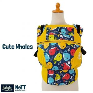 Babyta NeTT SSC Ergonomics Baby Carrier by Bobita (Cute Whales)