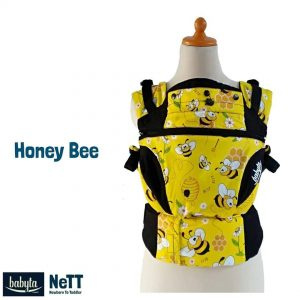 Babyta NeTT Adjustable SSC Ergonomics Baby Carrier by Bobita (Honey Bee)