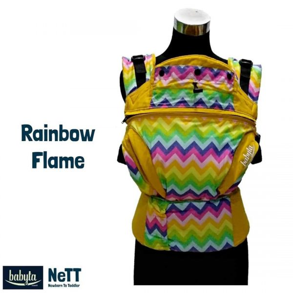 Babyta NeTT SSC Ergonomics Baby Carrier by Bobita (Rainbow Flame)